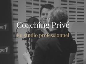 Coaching privé en studio professionnel